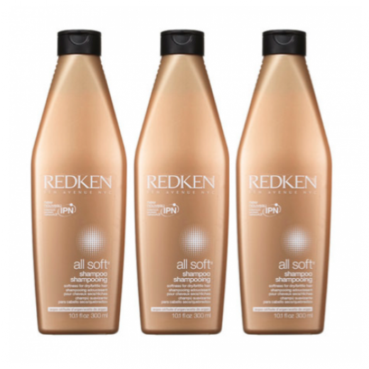 Redken All Soft Shampoo x 3 stk. 900 ml.-33