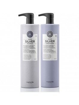 Maria Nila Sheer Silver Shampoo and Conditioner Liter sæt (2000 ml. i alt)-20