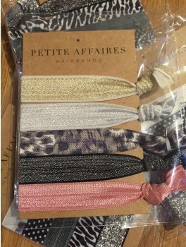Petite Affaires Hairbands (guld, sølv, leo, sort og rosa)-20