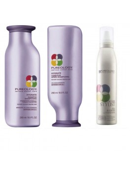 Pureology Hydrate Shampoo, Hydrate Conditoner + GRATIS Silk Bodifier volume mousse 670 ml.-20