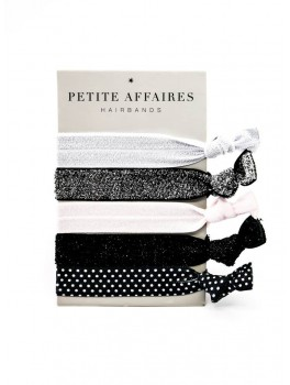 Petite Affaires Hairbands (Sorte og hvide nuancer og glimmer)-20