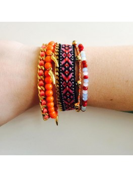 Pilgrim Armbånd Indian Orange 5-i-1-50%-20