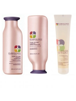 Pureology Pure Volume Shampoo, Pure Volume conditioner + GRATIS Sculpting Gel 650 ml.-20