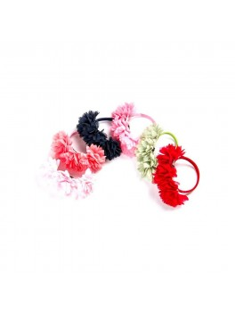 Flower Hair elastic rød-20