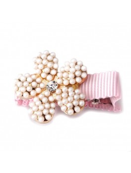 BABY HAIR CLIPS FLOWER PEARL-20