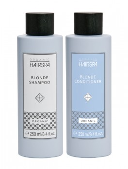 Organic Hairspa Blonde Shampoo Eliminér and Blonde Conditioner Eliminér 500 ml.-20