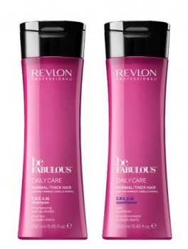 revlon be fabulous daily care normal thick hair CREAM Conditioner + Shampoo-20