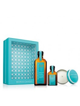 MOROCCANOIL TREATMENT HOME and AWAY SET WITH CANDLE-20