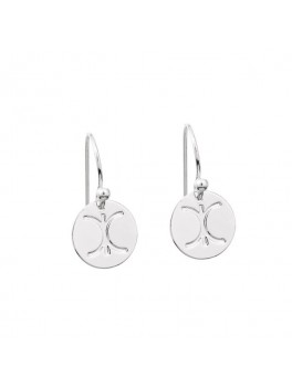 KC LOGO EARRINGS SILVER-20