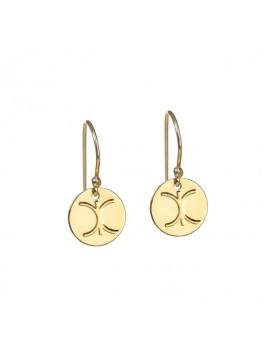 KC LOGO EARRINGS GOLDPLATED-20