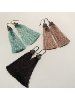 Kjærs Copenhagen TASSEL EARRINGS COLOR BLUE-20