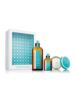 MOROCCANOIL TREATMENT LIGHT HOME and AWAY SET WITH CANDLE-20