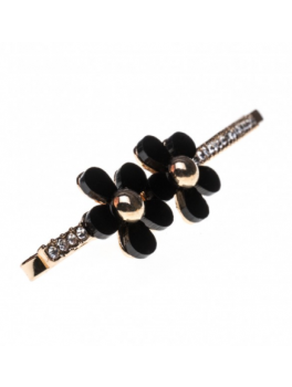 PETITE AFFAIRES Hairclip Black Small Flower-20