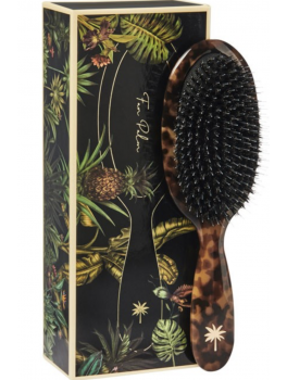 Fan Palm Hair Brush Medium Turtle NYHED-20