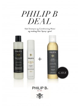 Philip B Deal Shampoo and conditioner water + gratis spray i gave 630-20