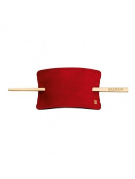 Hair Barrette Red Suede · Limited Edition-20